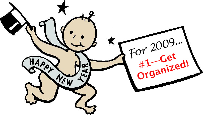 Baby New Year makes a resolution