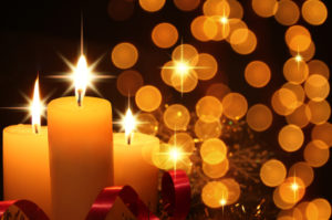 Sparkling holiday candles