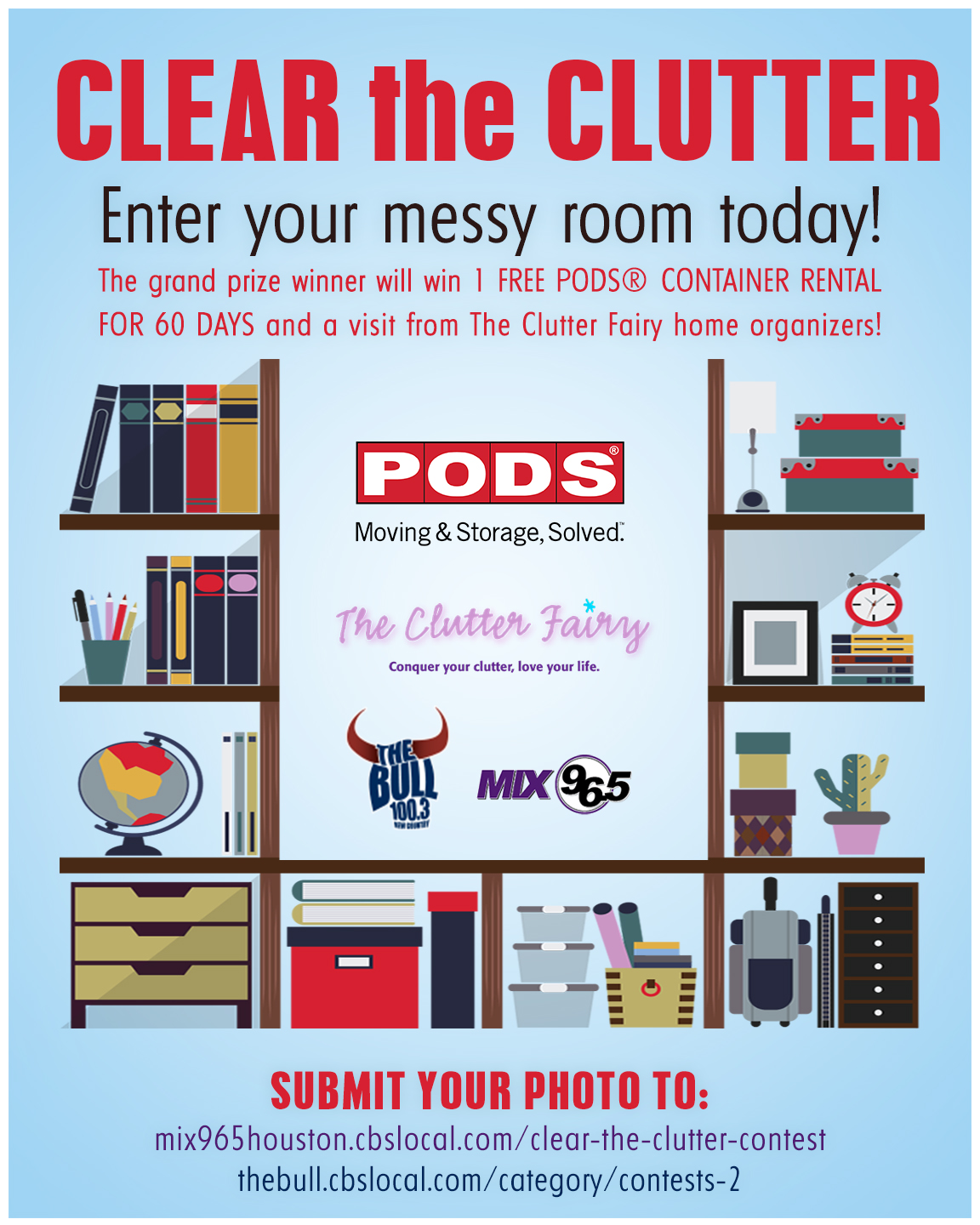 PODS Houston Clear the Clutter flyer